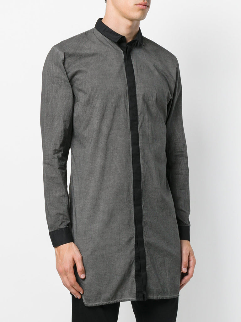 UNCONDITIONAL AW19 Black long cotton voile shirt