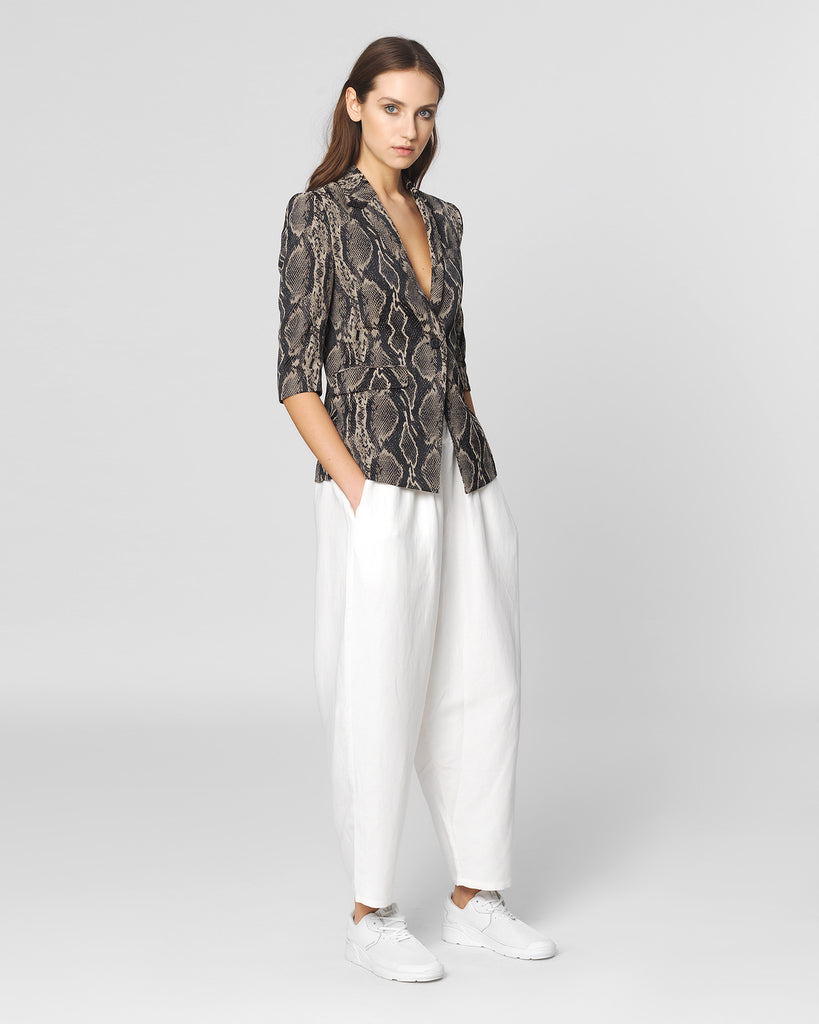 UNCONDITIONAL SS16 Ivory linen Speilberg cocoon trousers