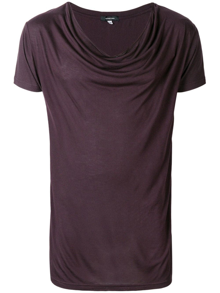 UNCONDITIONAL AW18 BERRY DRAPED NECK T-SHIRT