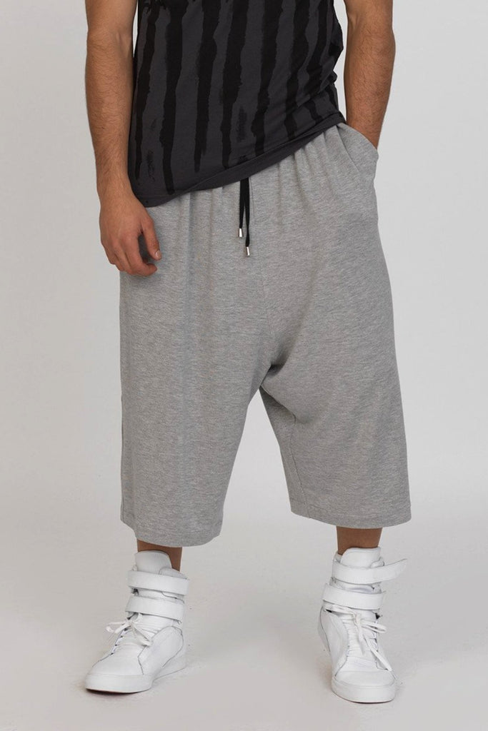 UNCONDITIONAL SS19 Grey Flannel oversized long shorts