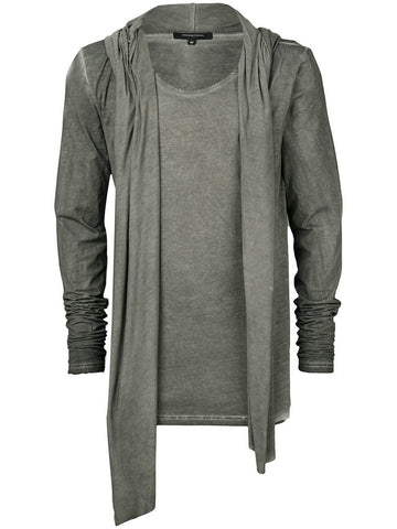 UNCONDITIONAL Military cold dyed long biker hoodie coat