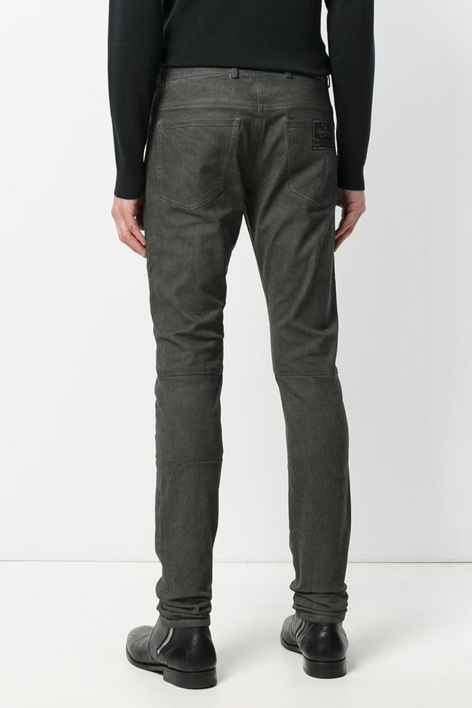 UNCONDITIONAL TR107CS Military-grey cold dye slim fit skinny jeans