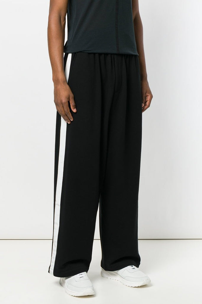 UNCONDITIONAL AW19 Black | Off White relaxed sweat tux trousers
