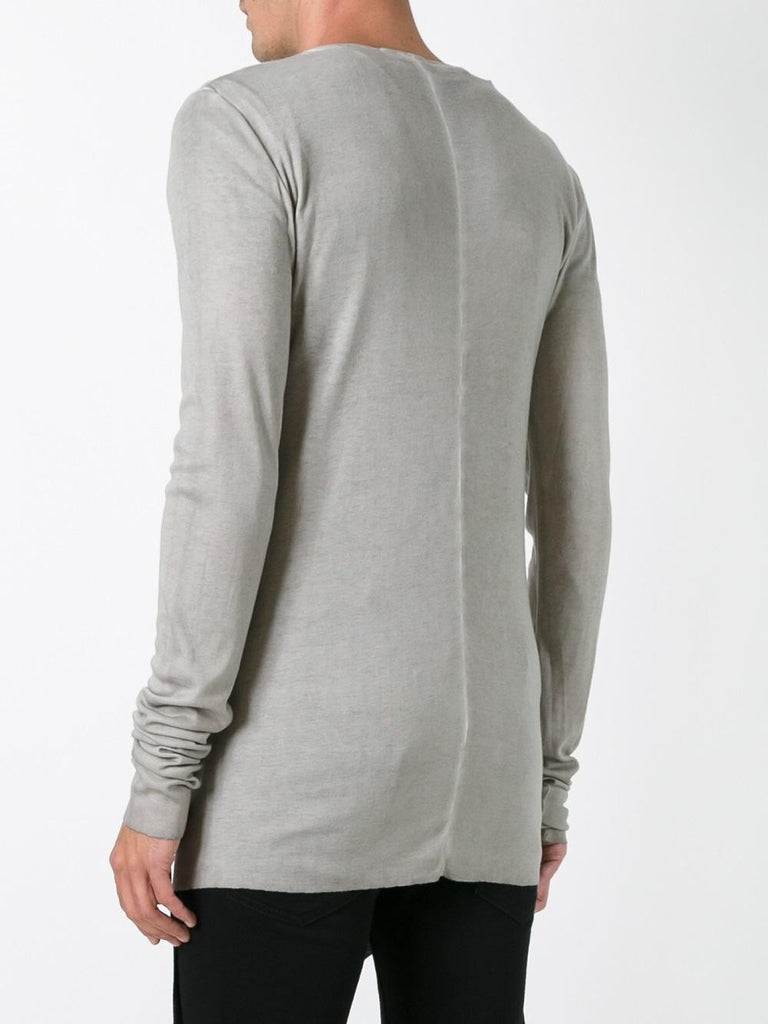 UNCONDITIONAL luxe long sleeved sand colddye high crew neck t-shirt