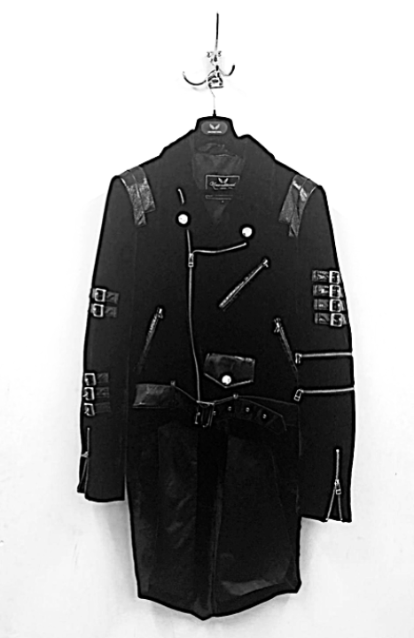 UNCONDITIONAL AW19 Black silk velvet biker (removeable) tailcoat