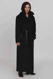 UNCONDITIONAL Black Monastic Hooded Wrap Maxi Coat .code : WCOT610