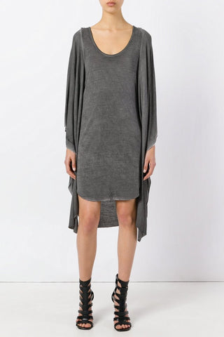 UNCONDITIONAL Black cashmere mix, chest panel knitted dress with shoulder straps