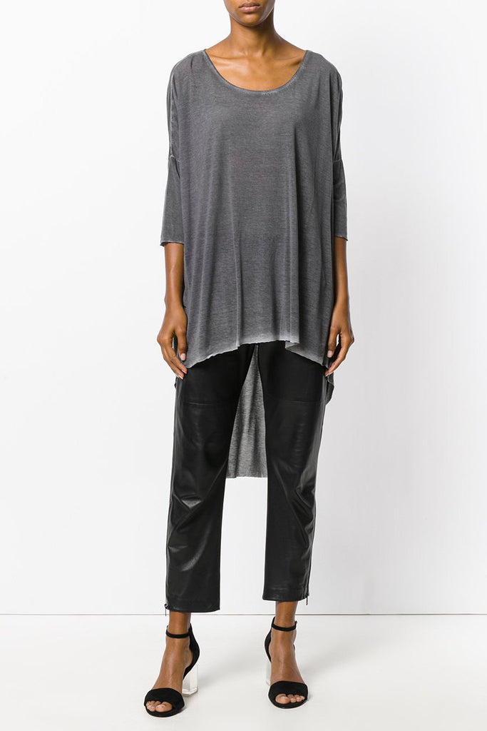 UNCONDITIONAL Military cold dye fine Tencel long tail tee.