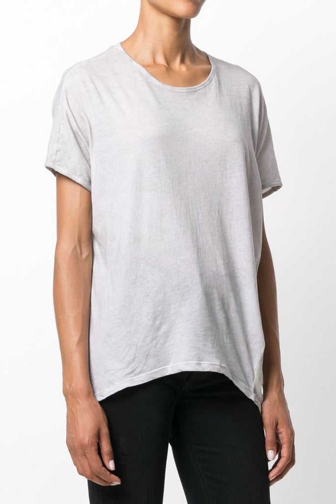 UNCONDITIONAL Sand cold dye silk chiffon back tail Tshirt