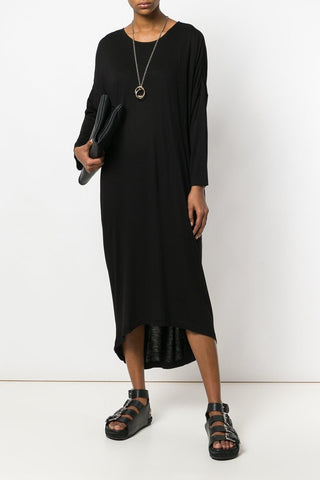 UNCONDITIONAL Military grey rayon asymmetric fin dress