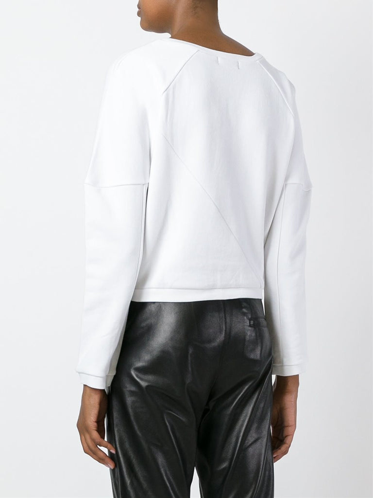 UNCONDITIONAL white 3/4 sleeves sweat shirting jumper.