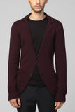 UNCONDITIONAL Black diamond back merino wool  knitted jacket.