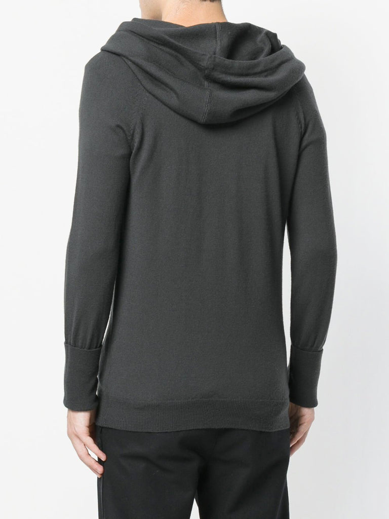 UNCONDITIONAL MIDNIGHT BLUE MERINO  knit FUNNEL NECK HOODIE