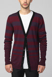 UNCONDITIONAL  cardigan with Grey reducing graded stripes
