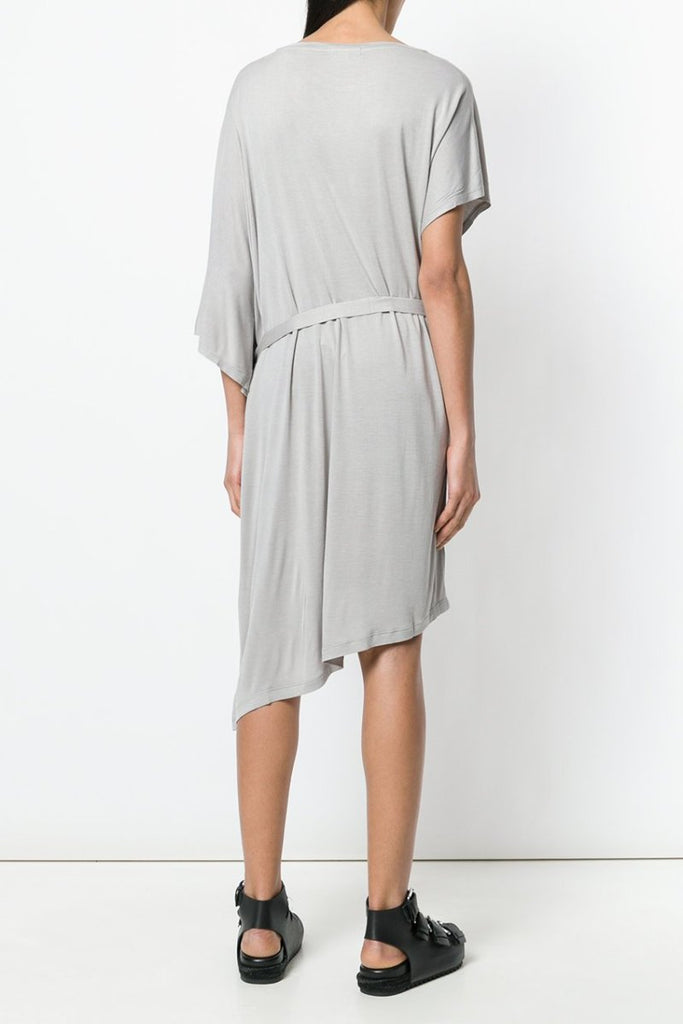 UNCONDITIONAL SS19 Stone rayon jersey asymmetric fin dress
