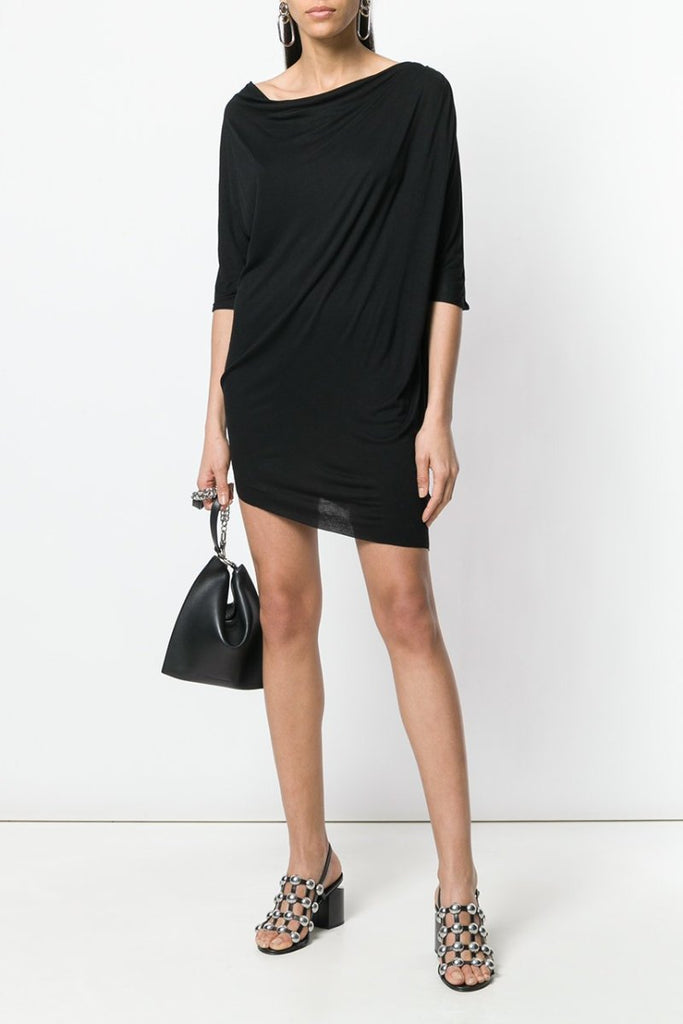UNCONDITIONAL SS18 Petrol rayon 3/4 sleeved asymmetric dress | tunic