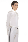 UNCONDITIONAL AW18 Off White silk satin  'PERFECT BLOUSE ' long sleeved blouse.