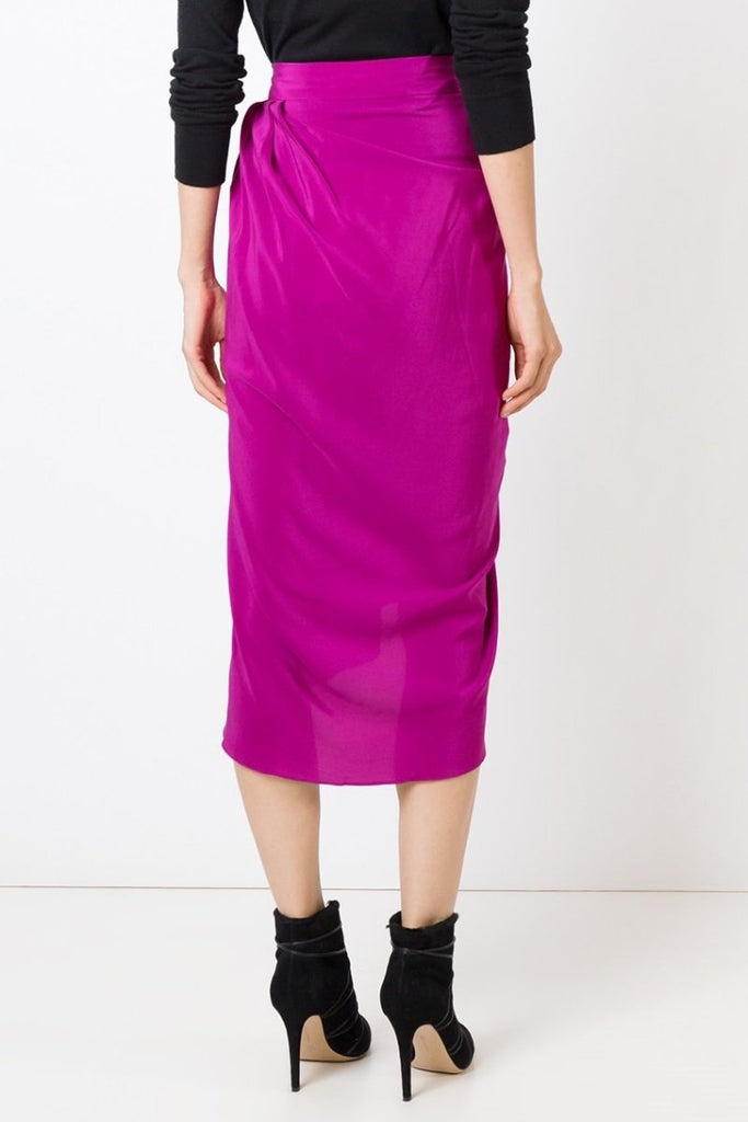 UNCONDITIONAL CYCLAMEN PINK SILK TULIP SKIRT