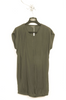 UNCONDITIONAL Olive unisex external seam long tank top.