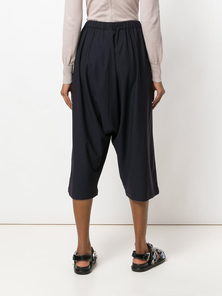 UNCONDITIONAL SS18 Dark navy unisex stretch wool  sporty culottes
