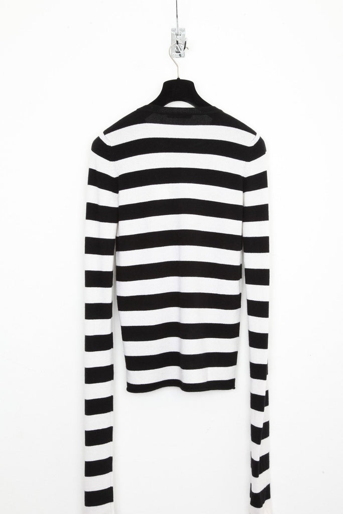 UNCONDITIONAL AW18 BLACK | OFF WHITE CASHMERE X-LONG SLEEVE SWEATER