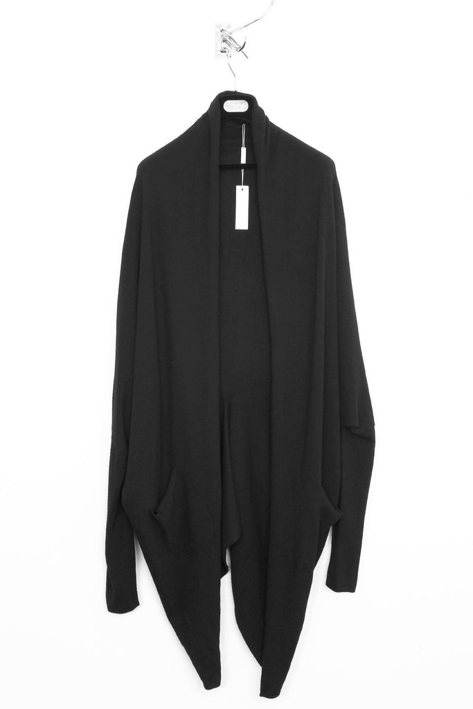 d4d4acce694 UNCONDITIONAL MENS BOILED MERINO WOOL black oversized COCOON cardigan.