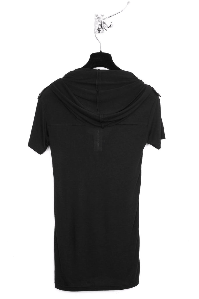UNCONDITIONAL dark grey rayon short sleeved ghost hoodie.