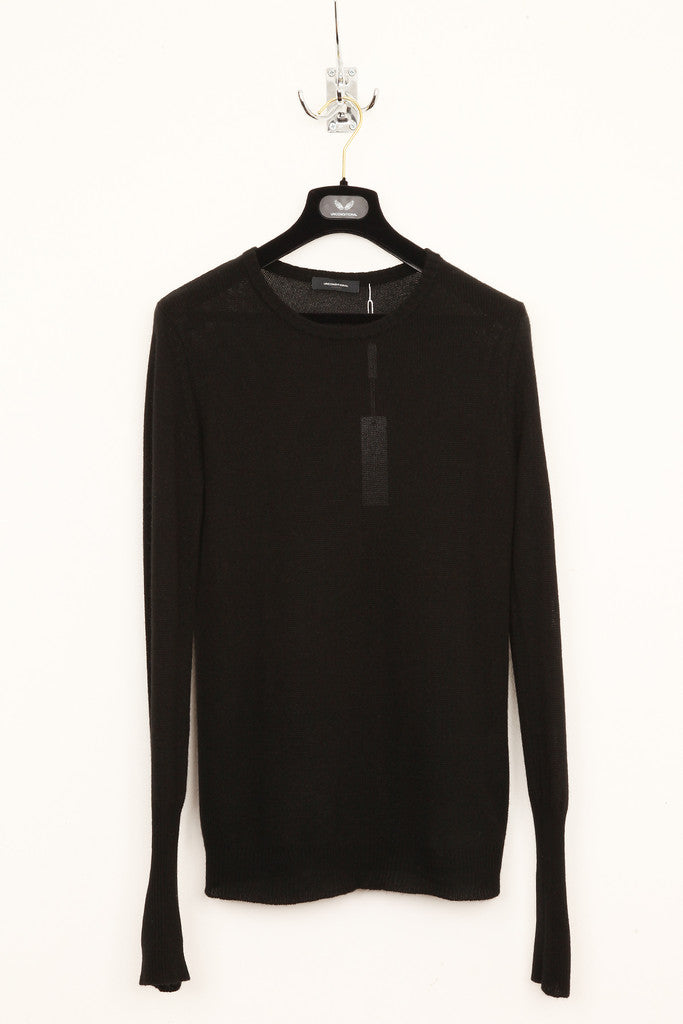 UNCONDITIONAL black loose knit round neck jumper.