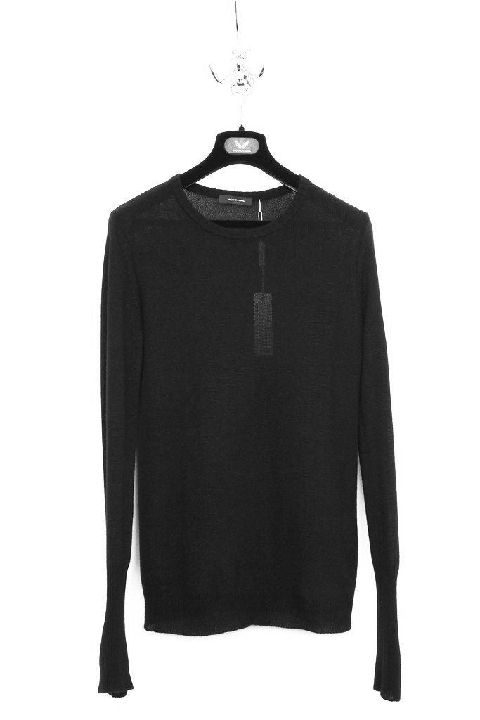 UNCONDITIONAL Olive loose knit silk cashmere crew neck jumper.