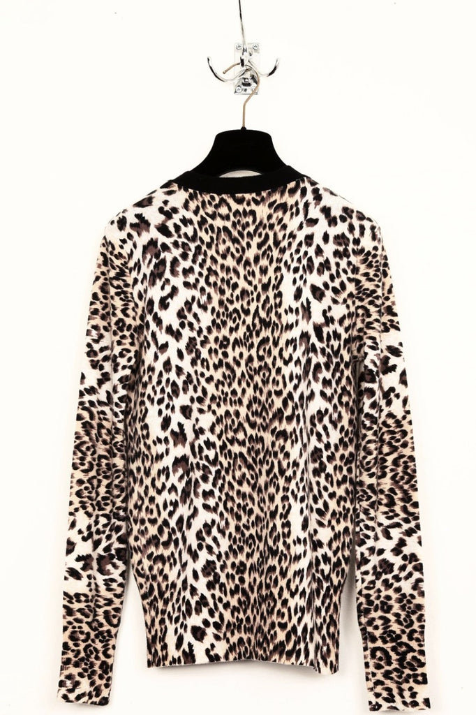 UNCONDITIONAL  AW18 Wrap front Leopard print cashmere cardigan.