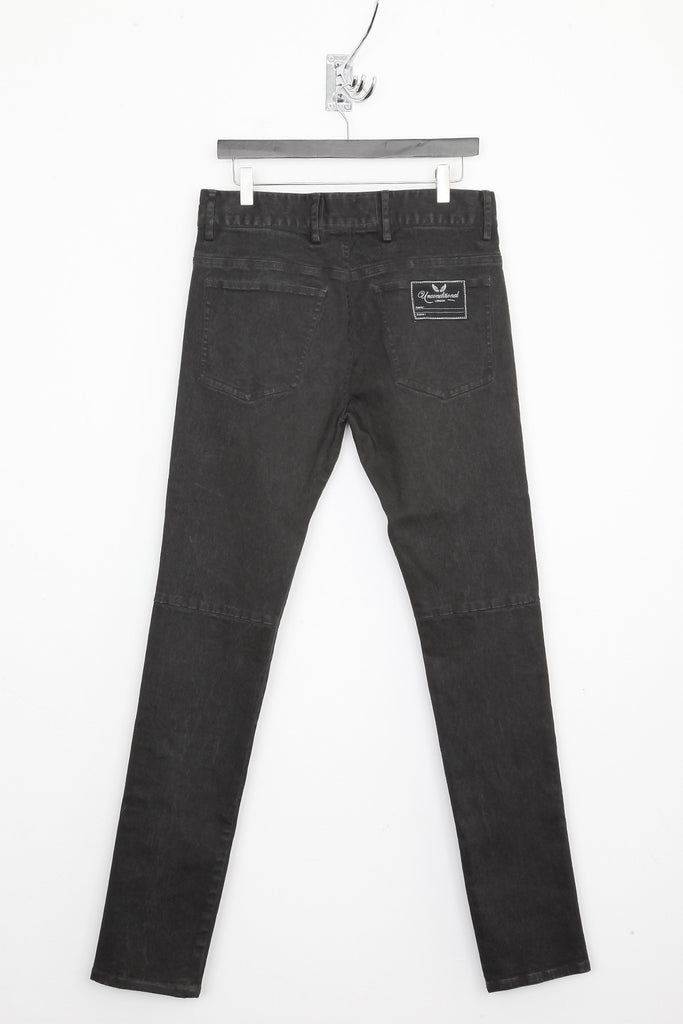 UNCONDITIONAL Grey sprayed skinny jeans with centre front seam