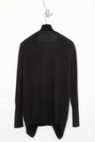 UNCONDITIONAL black and black double layer front cardigan.