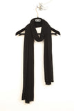 UNCONDITIONAL cashmere feel black rayon loose knit scarf.