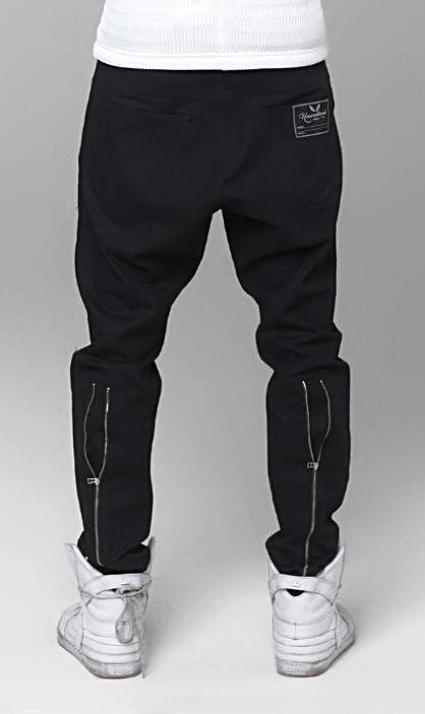 unconditional black back zip denim jeans