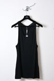 UNCONDITIONAL Black longer fine jersey vest.