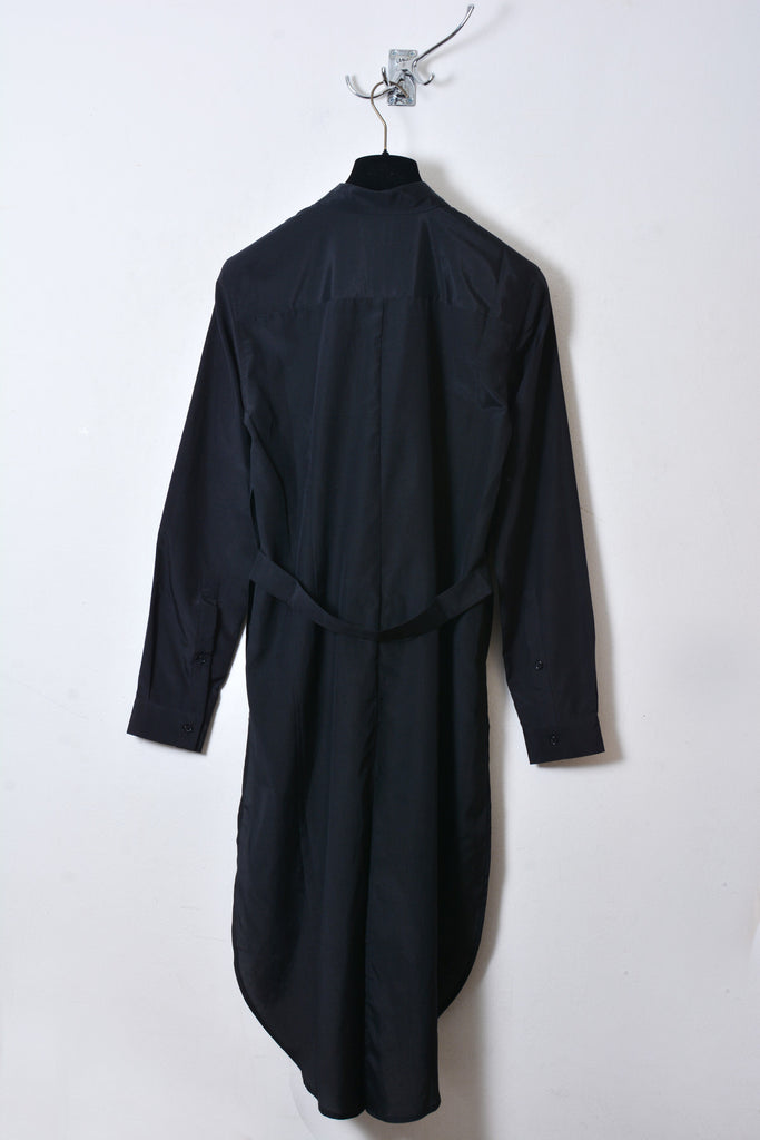 UNCONDITIONAL Black  long shirt with open sides split tail, and back strap