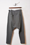 UNCONDITIONAL new zinc drop crotch full length trousers with silver double zip pockets.