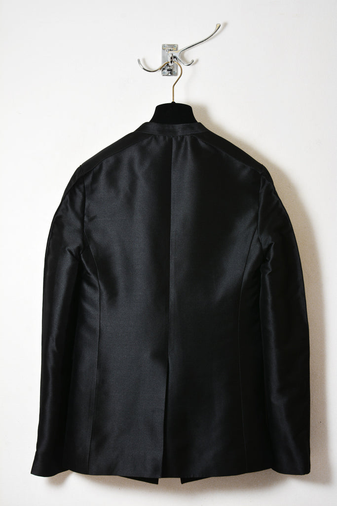 UNCONDITIONAL AW15 ladies black silk mix couture box shouldered jacket.
