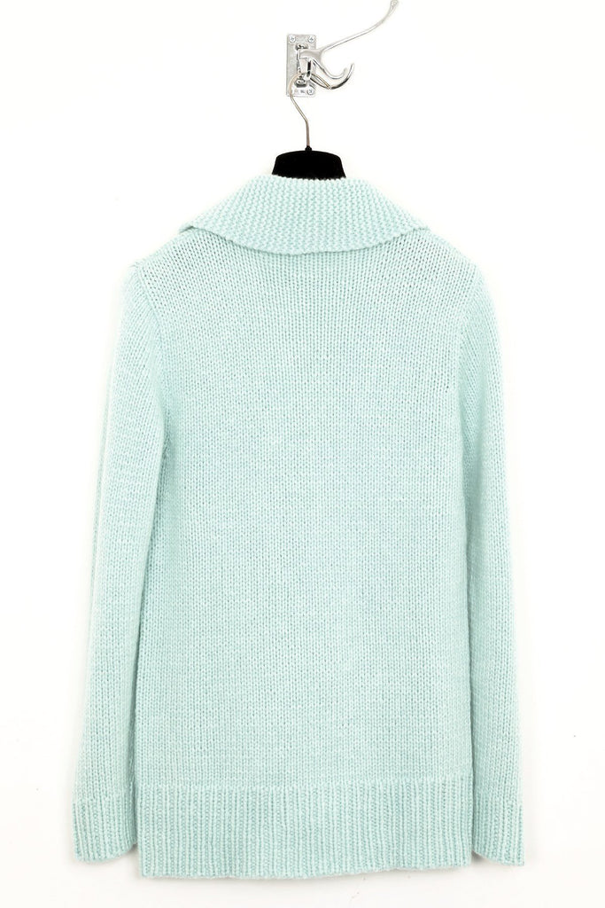 UNCONDITIONAL AW17 Aqua cashmere 24 ply fisherman jumper.