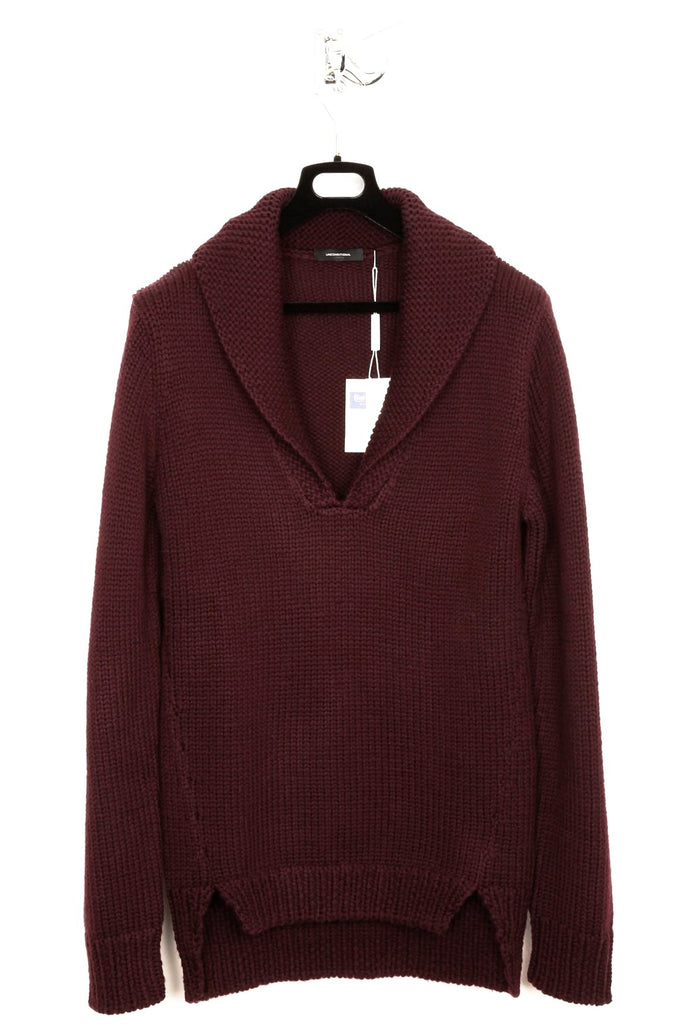 UNCONDITIONAL AW18 Burgundy Cashmere 24 ply fisherman jumper.