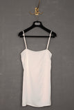 UNCONDITIONAL Ivory sandwashed pure silk stright front satin camisole.