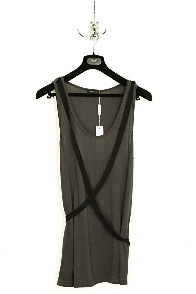 UNCONDITIONAL SS18 Military signature rayon vest with black bondage cross strap