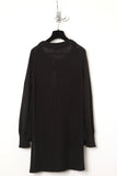 UNCONDITIONAL black long sleeve tail back jumper.