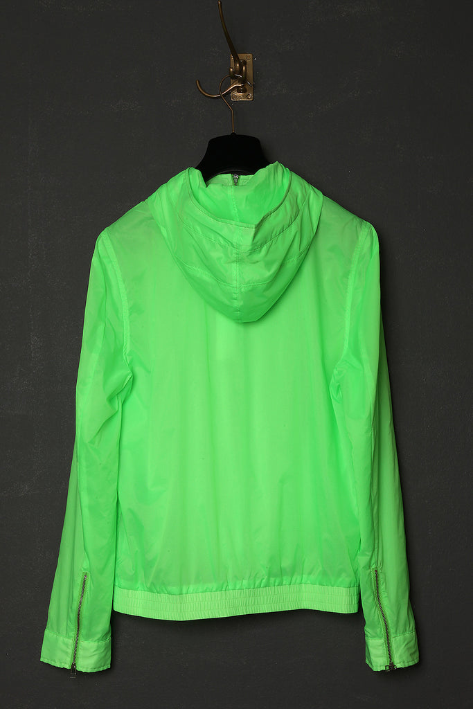 UNCONDITIONAL neon green Alphabeat jacket.