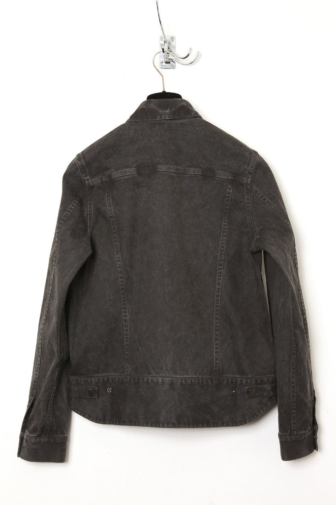 UNCONDITIONAL Dark Grey cold dye heavy cotton drill jacket with biker tail.