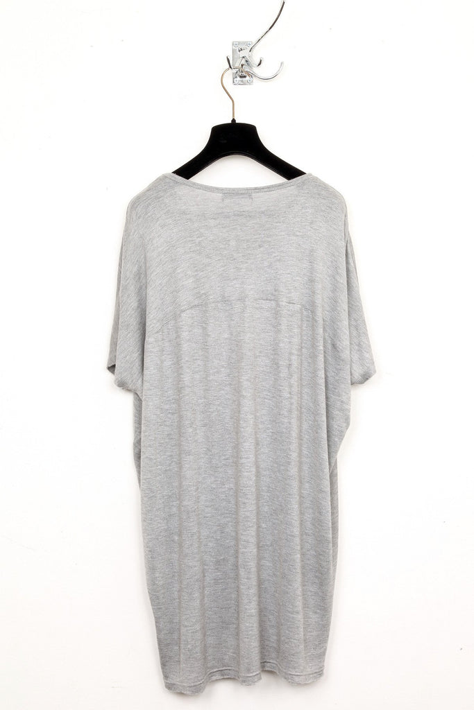 UNCONDITIONAL Flannel grey cashmere feel oversized long T-shirt.