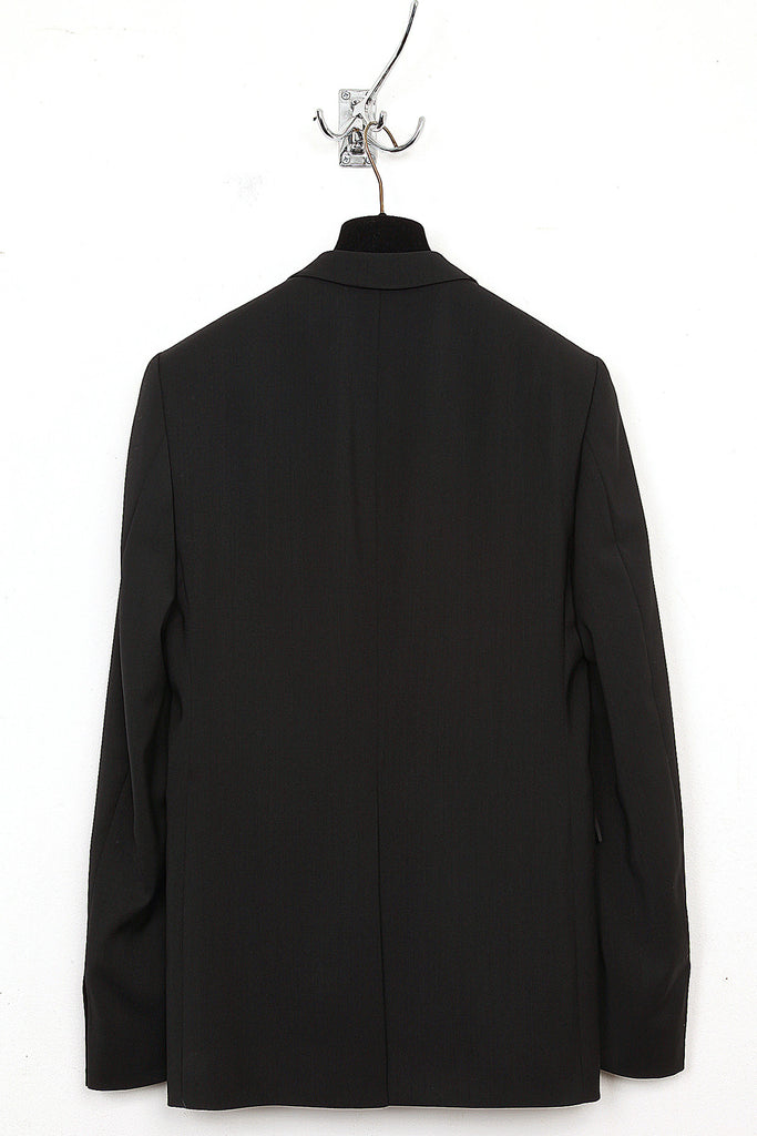 UNCONDITIONAL black wool cutaway jacket
