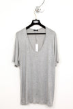 UNCONDITIONAL flannel long fit  cashmere feel scoop neck T