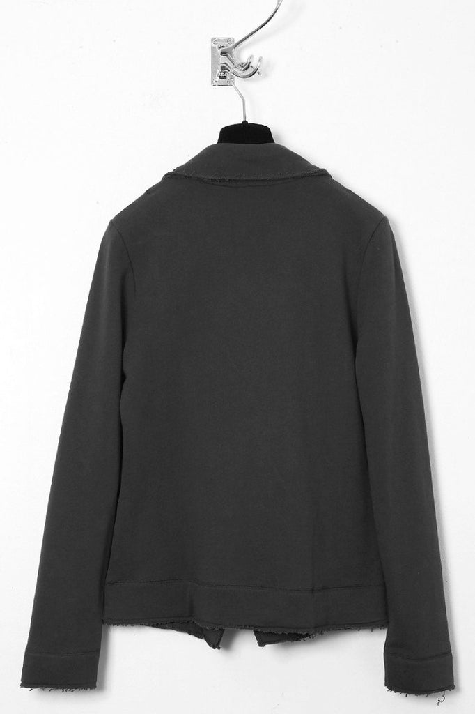 UNCONDITIONAL super dark grey sweat shirting jacket.