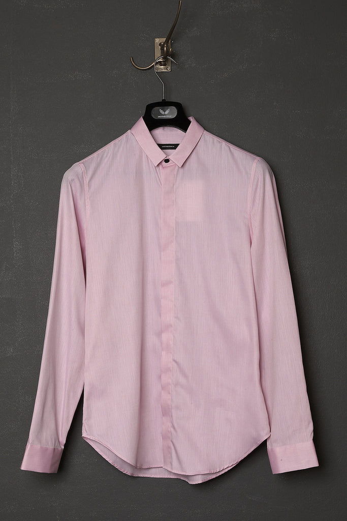 UNCONDITIONAL pink long sleeve baby collar shirt.